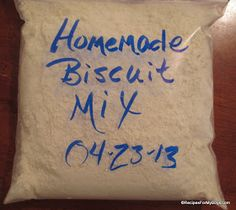 Recipes For My Boys: Homemade Biscuit Mix