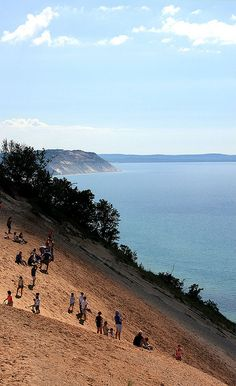 Sleeping Bear Dunes National Lakeshore. We hiked all the way to Lake Michigan...it was tough.