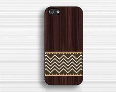 dark wood case IPhone 5s casechevron IPhone 5c by case7style, $9.99