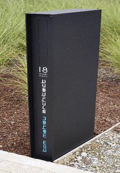Ook voor de brievenbus zijn er regels • Foto: www.argentalu.com (moderne brievenbus • zwart)