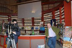 Roberto Mattioli con l'operatore del Tg1