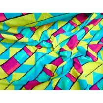 This printed swimwear lycra fabric originally came in from the swimwear label….