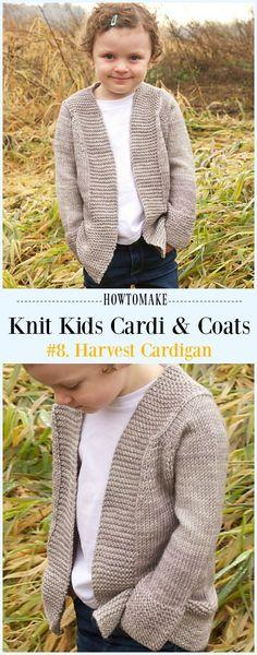 Harvest Cardigan Free Knitting Pattern - #Knit Kids #Cardigan Sweater Free Patterns