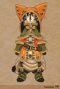 ArtStation - Steampunk cat, Anais Barbeau