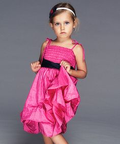 Fuchsia & Navy Color Block Infinity Dress - Girls by Infinity for Girls #zulily #zulilyfinds