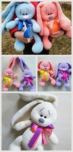 Mesmerizing Crochet an Amigurumi Rabbit Ideas. Lovely Crochet an Amigurumi Rabbit Ideas. Crochet Rabbit Free Pattern, Crochet Bunny Pattern, Crochet Bear, Crochet Patterns Amigurumi, Crochet Dolls, Amigurumi Free, Amigurumi Tutorial, Amigurumi Doll, Easy Crochet Projects