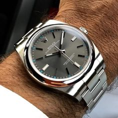 "1,854 Likes, 40 Comments - Rolex - Bob's Watches (@bobswatches) on Instagram: ""✅Design: Rolex nailed it on this one. ROLEX OYSTER PERPETUAL 114300 RHODIUM DIAL. #amazing #rolex…"""