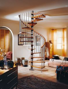 Can even put the staircase in the middle of the living room.