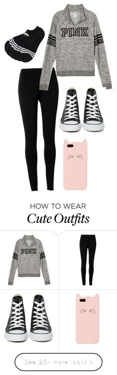 """""""Casual Outfit Cute"""" by jaedyn-tang-gordy on Polyvore featuring moda, Max Studio, Converse, Kate Spade i adidas"""