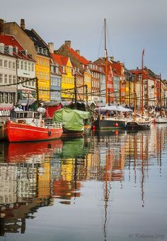 Colours of Copenhagen, Denmark... My brother-in-law lives here and its beautiful but not sunny.. Good to visit, not to live... I gotta have some sunshine!!!
