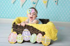 Easter Chick Baby girl headband  Photography by InspiredbyZoelle, $9.00