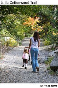 This site has tons of trails in or near Salt Lake City as well as directions and difficulty guides. Wonderful for Saturday family outings!