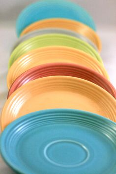 Vintage Collection of Fiestaware Saucers, $18 on #Etsy.