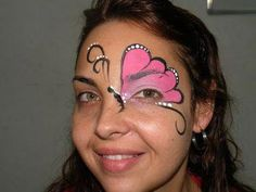 Kids Face Painting Easy, Easy Face Painting Designs, Adult Face Painting, Butterfly Face Paint, Butterfly Makeup, Tinta Facial, Christmas Face Painting, Pregnant Belly Painting, Cheek Art
