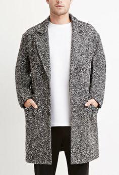 Herringbone-Patterned Coat | Forever 21 Men - 2000156401