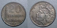 Moeda brasileira de 20 centavos de cruzeiro de 1967