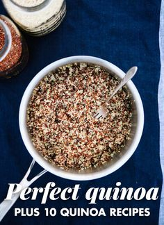 Learn how to cook perfect quinoa, every time. I've tried all the other quinoa cooking methods and this one works best. It's easy to cook fluffy quinoa when you know the right way to do it! Quinoa Recipes Easy, Vegetarian Recipes, Healthy Recipes, Healthy Food, Kale Recipes, Vegan Meals, Recipies, Healthy Eating, Quinoa Nutrition