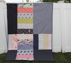 Diary of a Quilter - a quilt blog: Modern Chain-Linked Quilt