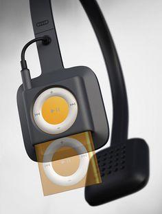 ODDIO1 Headphones Hide iPod Shuffle 4G in Plain Sight