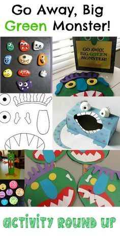 Just a Touch of Crazy: Go Away Big Green Monster Activity Round Up Monster Activities, Monster Crafts, Activities For Kids, English Activities, Kids Activity Books, Preschool Books, Preschool Themes, Monsters, Artists