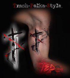 Cross Tattoo For Men, Cross Tattoo Designs, Leg Tattoo Men, Arm Tattoo, Tattoo Designs And Meanings, Tattoo Designs Men, Leg Tattoos, Small Tattoos, Cool Tattoos