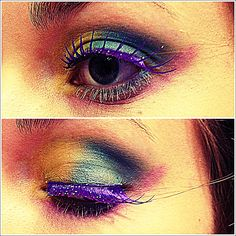 My take on the Mad Hatter makeup, female version.