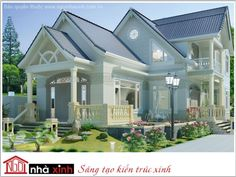 Mẫu biệt thự đẹp phong cách nhà vườn nhà chị Hoa (Bình Chánh)