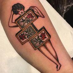Zig-Zag Girl Tattoos By Ryan Cooper Thompson