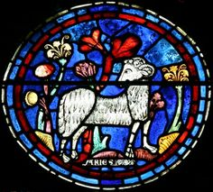 Aries window at Chartres Cathedral, honoring the expected one....She is a force to be reckoned with throughout all herstory, time returns.