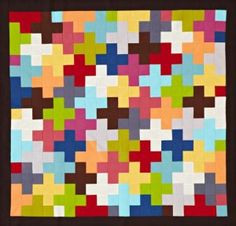 Quilt with Your Favorite Solid Fabric- so want to make one of these.