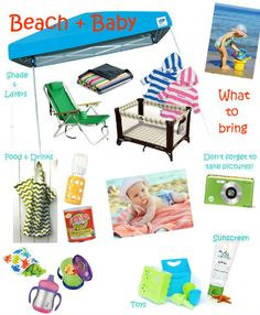Tips for a beach trip with a baby or toddler