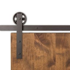 "<p>The Vintage Barn Door Hardware captures a rustic feeling with the hand forged 5"" spoked wheels, 2"" flat straps, and a smooth, quiet roll that works well with any door setup.</p> <p>Clearance needed above top of door: 8"". Weight limit is 300lbs.</p>"