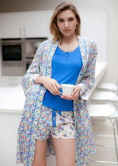 Rebecca Vest, short and Robe Lazy Outfits, Cool Outfits, Summer Outfits, Sexy Pajamas, Cute Pajamas, Business Dresses, Nightwear, Lounge Wear, Sportswear
