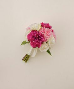 Pink Peony Bouquet Real Touch Flower Bouquet Dark by Lilywinkel