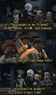 Star Wars Comics, Lego Star Wars, Star Wars Boba Fett, Star Wars Humor, Star Wars Clone Wars, Star Wars Art, Star Wars Clones, Images Star Wars, Star Wars Pictures