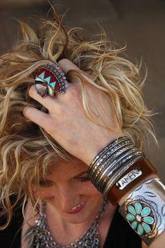 Loving her jewelry !