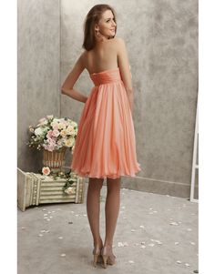 Charming A-line Sweetheart Knee-length Chiffon Flower(s) Colored Cocktail Dresses