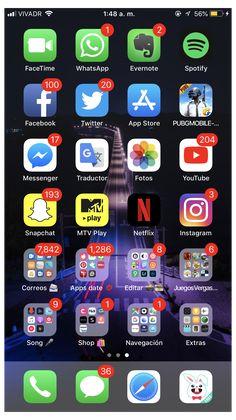 Organize Phone Apps, Iphone Texts, Iphone Phone, Twitter App, Iphone App Layout, Cute Emoji Wallpaper, Iphone Hacks, Applis Photo, Iphone Wallpaper Tumblr Aesthetic