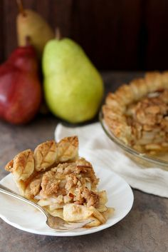 pear crumble pie by annieseats