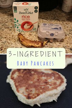 Baby Cereal Pancakes: Easy Three-Ingredient Banana and Egg Pancakes These are the baby pancakes we used to make for my daughter using baby rice cereal when we were concerned about her iron levels. Baby Cereal Pancakes, No Egg Pancakes, Pancakes Easy, Banana Pancakes For Baby, Pancakes For Babies, Rice Cereal Baby, Healthy Finger Foods, Baby Finger Foods, Healthy Rice