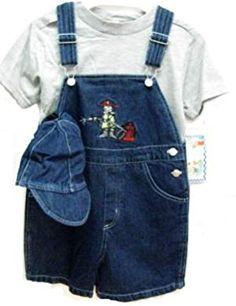 Toddler Boys Size Indigo Denim/Stripe Denim Embroidered Pocket Shortall Sets with Cap. Red Hoodie, Sweater Hoodie, Dungarees, Overalls, Latest Fashion Trends, Fashion Brands, Sweater Dress Outfit, Hooded Sweatshirts, Hoodies