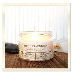 kos i kvardagen soya øko lys Candle Jars, Candles, Kos, Candy, Candle Sticks, Aries, Blackbird, Candle