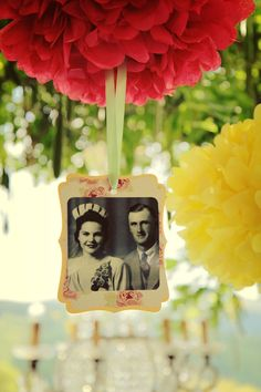 I'm such a sucker for vintage photos...love the way they're displayed here! #weddings