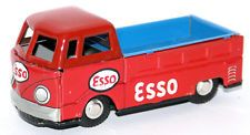 Vintage Tin Litho Friction VW Combi Truck with ESSO OIL GAS Advertising, Japan