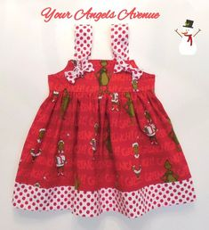 cc842404360 Baby Christmas Grinch Dr Seuss Christmas Dress