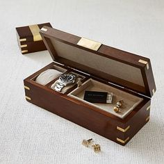 His & His matching watch or cufflinks box! Love the midcentury design - masculine lines and great purpose!!! I'll take 2!