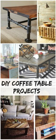 The best DIY projects & DIY ideas and tutorials: sewing, paper craft, DIY. Best Diy Crafts Ideas For Your Home Creative DIY Coffee Table Projects Furniture Projects, Pallet Furniture, Furniture Makeover, Furniture Plans, Furniture Making, Easy Projects, Home Projects, Diy Inspiration, Ideias Diy
