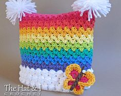 CROCHET PATTERN Over the Rainbow crochet rainbow by TheHatandI