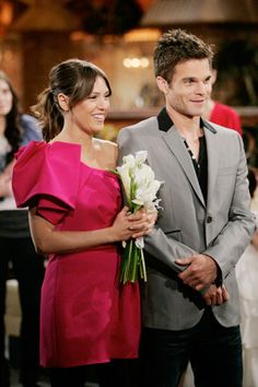 Elizabeth Hendrickson and  Greg Rikkart  AKA Chloe and Kevin getting married for the second time.