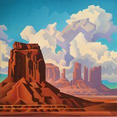 Uncommon Rocky Forms - - Oil on Canvas - 2015 Watercolor Landscape, Landscape Art, Landscape Paintings, Western Landscape, Southwestern Art, Desert Art, American Indian Art, Art For Art Sake, Office Art